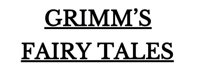 GrimmsFairyTales